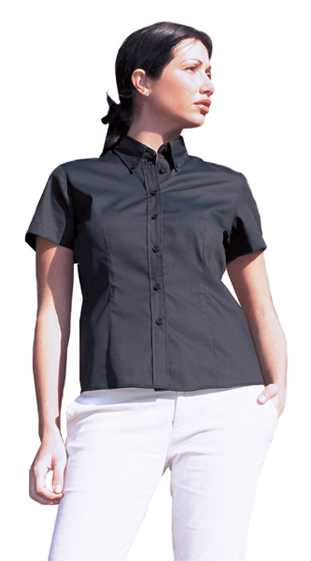 Uneek Ladies Pinpoint Oxford Short Sleeve Shirt Womens Office Workwear UC704
